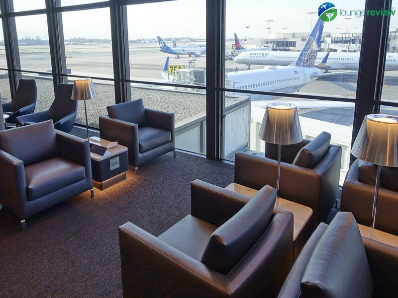 United Polaris Lounge LAX seating