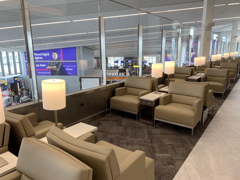 Seating area the new United Club New York LaGuardia