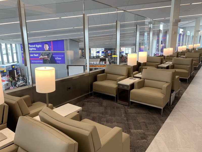 Seating area the new United Club New York LaGuardia