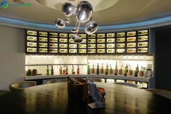 Wine tasting room at SkyTeam Lounge London Heathrow