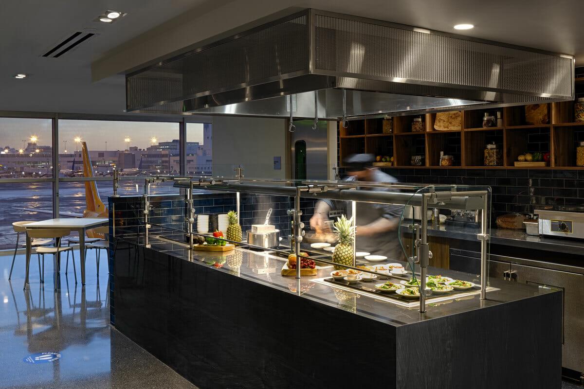 The Centurion Lounge Denver buffet