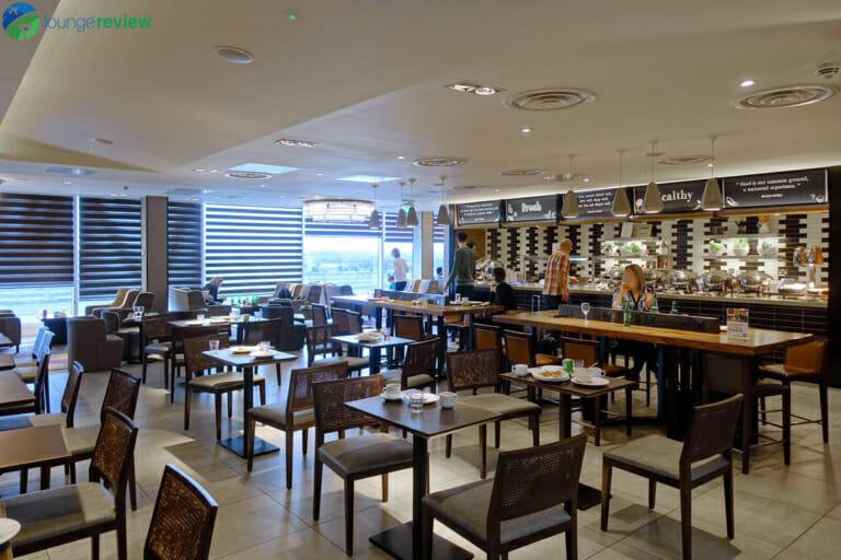 Plaza Premium Lounge London Heathrow Terminal 4 dining area